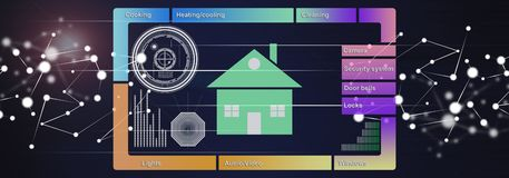 Concept of smart home stock illustration