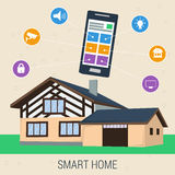 Concept smart house with control panel Royalty Free Stock Images