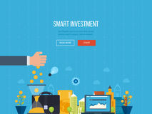 Concept for smart investment, finance, banking, strategic management, Royalty Free Stock Photography
