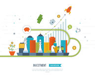 Concept for smart investment, finance, banking, strategic management, Royalty Free Stock Image