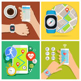 Concept of smart watch Royalty Free Stock Photography