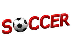 Concept: Soccer. 3D rendering. Royalty Free Stock Images