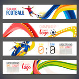 Concept of soccer player with colored geometric shapes assembled in figure footbal Royalty Free Stock Image