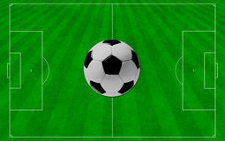 The concept of soccer to the background. Royalty Free Stock Image