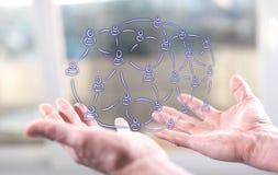 Concept sociaal netwerk royalty-vrije stock afbeeldingen