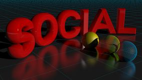 Concept social Photographie stock libre de droits