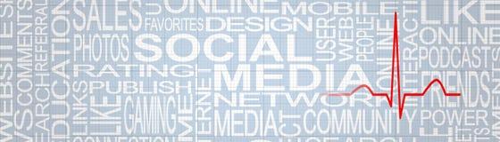 Concept social d'effort de media Concept social de dépendance de réseaux photos stock