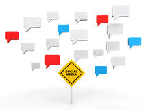 concept social d'entretien du media 3d illustration libre de droits
