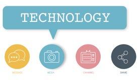 Concept social d'icônes de boutons de media illustration de vecteur