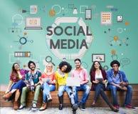 Concept social d'innovation de technologie de mise en réseau de media social photographie stock