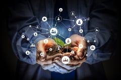 Concept social d'interaction 3d rendent Photos stock