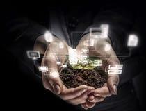Concept social d'interaction 3d rendent Images stock
