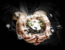Concept social d'interaction 3d rendent Photo stock