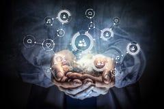 Concept social d'interaction 3d rendent Image libre de droits
