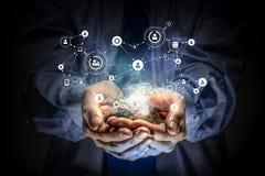 Concept social d'interaction 3d rendent Images libres de droits