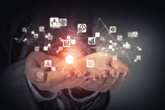 Concept social d'interaction 3d rendent Image stock