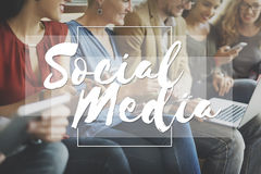 Concept social de causerie de mise en réseau de connexion de media Photos libres de droits