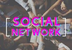 Concept social de causerie de mise en réseau de connexion de media Images stock