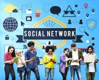 Concept social de communication de connexion de mise en réseau de media Photo libre de droits