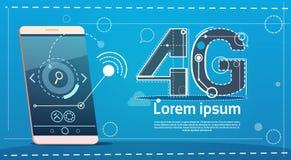 Concept social de communication de réseau du téléphone 4g de cellules de vitesse futée d'Internet Photographie stock libre de droits