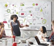 Concept social de connexion de technologie de mise en réseau de media social Image stock