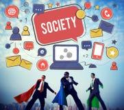 Concept social de connexion réseau de media de société Photo stock