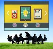 Concept social de connexion réseau de media de technologie Images libres de droits