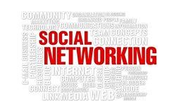 Concept social de gestion de réseau Image libre de droits