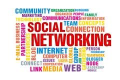 Concept social de gestion de réseau Photographie stock