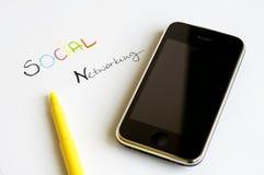Concept social de gestion de réseau Photo stock