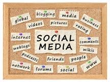 Concept social de gestion de réseau Images libres de droits