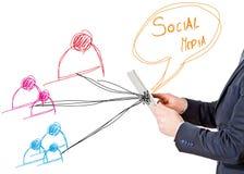 Concept social de media images stock