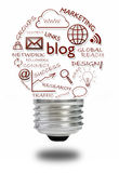 Concept social de media de blog Image stock