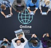 Concept social de media de mise en réseau de connexion en ligne Images libres de droits
