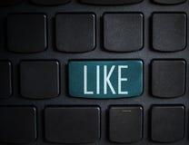 Concept social de media : Entrez dans le bouton avec comme sur l'ordinateur keyboar Image libre de droits
