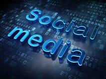 Concept social de media : Media social bleu sur numérique illustration stock