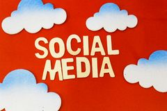 Concept social de medias Photo libre de droits