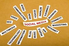 Concept social de medias Photo stock