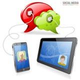 Concept social de medias Photos libres de droits