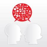 Concept social de medias Photos stock