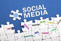 Concept social de medias Photographie stock