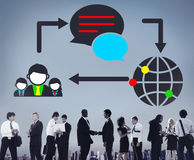 Concept social de mise en réseau de connexion de télécommunications mondiales Images stock