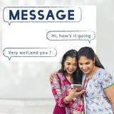 Concept social de mise en réseau de connexion de télécommunications mondiales Photos libres de droits