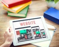 Concept social de mise en réseau de media d'Internet de données de site Web Photos stock