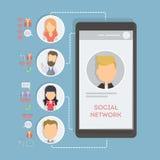 Concept social de mise en réseau Photographie stock libre de droits