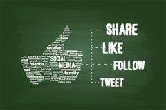 Concept social de mot de media Photo libre de droits