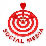 Concept social de public cible de media Signe social de media près de Dar illustration libre de droits