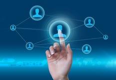 Concept social de réseau Photo libre de droits