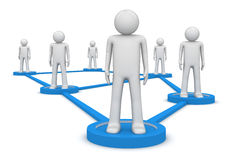 Concept social de réseau Photo stock