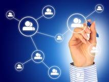 Concept social de réseau. Image stock